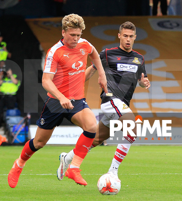 Cameron McGeehan of Luton Town in action during the Sky Bet League 2 match between Luton Town and Doncaster Rovers at Kenilworth Road, Luton, England on 24 September 2016. Photo by Liam Smith.