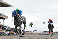 Creative Cause and Rafael Bejarano win the Best Pal Stakes(GII)at Del Mar Thoroughbred Club in Del Mar, CA.  August 06, 2011