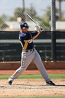 Jonathan Lucroy #20 of the Milwaukee Brewers plays in a spring training game against the Los Angeles Dodgers at the Brewers complex on April 2, 2011 in Phoenix, Arizona. .Photo by:  Bill Mitchell/Four Seam Images.