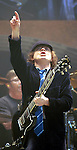 AC/DC guitarist Angus Young performs during the band's stop at the Toyota Center Sunday Dec. 14, 2008. (Dave Rossman for the Chronicle)
