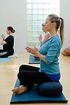Yoga class at the Iyengar Yoga Institute, London