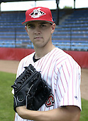 July 3, 2004:  Pitcher Derek Tillman of the Jamestown Jammers, Single-A NY-Penn League affiliate of the Florida Marlins, during a game at Russell Diethrick Park in Jamestown, NY.  Photo by:  Mike Janes/Four Seam Images