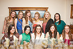 SCHOOLS OUT: 5th year students from Causeway Comprehensive school who got together in Bella Bia restaurant, Tralee last Friday night to celebrate end of year were seated l-r: Kerri O'Shea, Molly O'Regan, Niamh Carlin, Isabel O'Connor and Suzanne Barron. Back l-r: Tara Lowe, Orla Young, Lauren Fitzmaurice, Vicky Barron, Laura Murphy and Shannon Lowe.