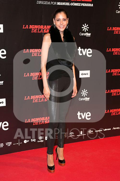 """Yolanda Font attends """"La Ignorancia de la Sangre"""" Premiere at Capitol Cinema in Madrid, Spain. November 13, 2014. (ALTERPHOTOS/Carlos Dafonte)"""