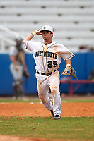 Dartmouth Big Green third baseman Justin Fowler (25) during a game against the Lehigh Mountain Hawks on March 20, 2016 at Chain of Lakes Stadium in Winter Haven, Florida.  Dartmouth defeated Lehigh 5-4.  (Mike Janes/Four Seam Images)