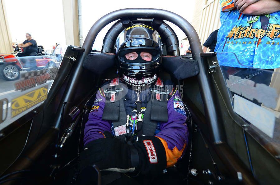 Jul, 20, 2012; Morrison, CO, USA: NHRA top fuel dragster driver Steve Chrisman during qualifying for the Mile High Nationals at Bandimere Speedway. Mandatory Credit: Mark J. Rebilas-