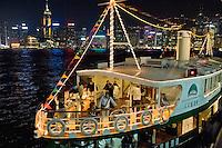 Asie, Chine, Hong-Kong. Skyline at night..Photo : Vibert / Actionreporter.com - 33.1.42.52.73.86 - vibert@actionreporter.com