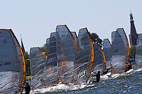Medemblik - the Netherlands, May 29th 2009. Delta Lloyd Regatta in Medemblik (27/31 May 2009). Day 3. Start RS:X Men.