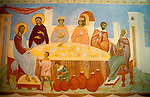 Israel, Galilee, a painting depicting Jesus performming his first miracle in Cana