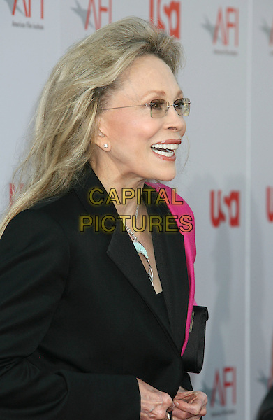 FAYE DUNAWAY.36th AFI Life Achievement Award tribute to Warren Beatty held at the Kodak Theatre, Hollywood, California, USA, .12 June 2008..portrait headshot profile trouser suit pink black glasses.CAP/ADM/MJ.©Michael Jade/Admedia/Capital Pictures