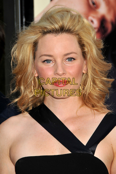 "ELIZABETH BANKS .""Funny People"" Los Angeles Premiere held at Arclight Cinemas, Hollywood, CA, USA..July 20th, 2009.headshot portrait black straps pink red lipstick gold earrings .CAP/ADM/BP.©Byron Purvis/AdMedia/Capital Pictures."