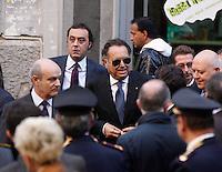MANIFESTAZION ANTI RACKET CON IL CAPO DELLA POLIZIA .NELLA FOTO ANTONIO MANGANELLI.FOTO CIRO DE LUCA.