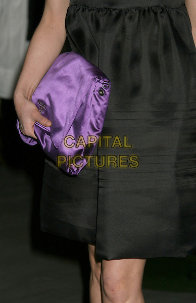 "CHINA CHOW.Prada Los Angeles Hosts Private Screening of the Animated Short Film ""Trembled Blossoms"" held at the Prada Beverly Hills Epicenter, Beverly Hills, California, USA, 19 March 2008..detail purple clutch bag.CAP/ADM/RE.©Russ Elliot/Admedia/Capital PIctures"