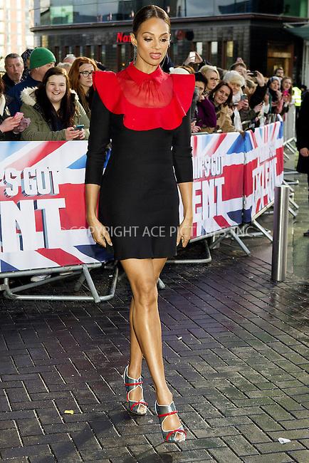 WWW.ACEPIXS.COM<br /> <br /> January 29 2015, Manchester<br /> <br /> Alesha Dixon arrives at 'Britain's Got Talent' auditions on January 29 2015 in Manchester, England<br /> <br /> By Line: Famous/ACE Pictures<br /> <br /> <br /> ACE Pictures, Inc.<br /> tel: 646 769 0430<br /> Email: info@acepixs.com<br /> www.acepixs.com