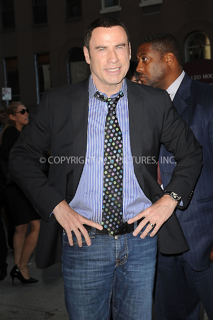 WWW.ACEPIXS.COM . . . . . .June 27, 2012...New York City....John Travolta attends the 'Savages' New York Premiere at SVA Theater on June 27, 2012 in New York City. ....Please byline: KRISTIN CALLAHAN - WWW.ACEPIXS.COM.. . . . . . ..Ace Pictures, Inc: ..tel: (212) 243 8787 or (646) 769 0430..e-mail: info@acepixs.com..web: http://www.acepixs.com .