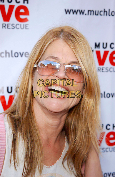 "LINDA HAMILTON.Much Love Animal Rescue ""Shop Til You Drool"" Benefit held at 5th and Sunset Studios,  West Los Angeles, California, USA, 30th April 2005..portrait headshot smiling glasses sunglasses wrinkles.Ref: ADM.www.capitalpictures.com.sales@capitalpictures.com.©Jacqui Wong/AdMedia/Capital Pictures."