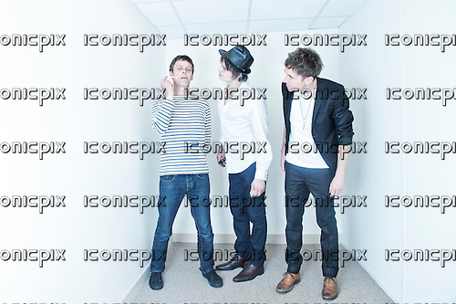 BABYSHAMBLES<br /> - L-R: Mick Whitnall, Pete Doherty, Drew McConnell - Photosession in Paris France -  28 Aug 2013.  Photo <br /> Credit : William Beaucardet/Dalle/IconicPix