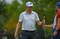 Jonas Blixt (SWE) after sinking his putt on 1 during day 2 of the Valero Texas Open, at the TPC San Antonio Oaks Course, San Antonio, Texas, USA. 4/5/2019.<br /> Picture: Golffile | Ken Murray<br /> <br /> <br /> All photo usage must carry mandatory copyright credit (&copy; Golffile | Ken Murray)