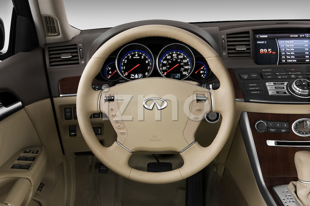 Steering wheel view of a 2008 Infiniti M35