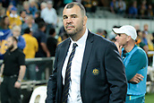 9th September 2017, nib Stadium, Perth, Australia; Supersport Rugby Championship, Australia versus South Africa; Australian coach Michael Cheika after the drawn game against the Springboks