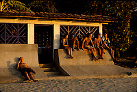 Costa Rica - file Photo -Tamarindo,surfers at dawn