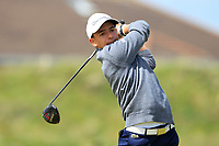 Tom Vailant (FRA) on the 5th tee during Round 1 of the The Amateur Championship 2019 at The Island Golf Club, Co. Dublin on Monday 17th June 2019.<br /> Picture:  Thos Caffrey / Golffile<br /> <br /> All photo usage must carry mandatory copyright credit (© Golffile | Thos Caffrey)
