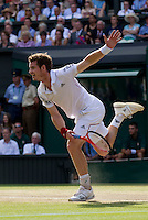 Andy Murray (GBR) (4)  against Rafael Nadal (ESP) (2) in the Semi-Finals of the gentlemen's singles.  Rafael Nadal beat Andy Murray 6-4 7-6 6-4..Tennis - Wimbledon Lawn Tennis Championships - Day 11 Fri 2nd July 2010 -  All England Lawn Tennis and Croquet Club - Wimbledon - London - England..© FREY - AMN IMAGES  Level 1, Barry House, 20-22 Worple Road, London, SW19 4DH.TEL - +44 (0) 20 8947 0100.Email - mfrey@advantagemedianet.com.www.advantagemedianet.com