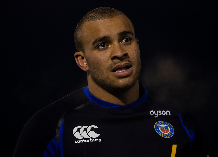 Bath Rugby's Jonathan Joseph<br /> <br /> Photographer Bob Bradford/CameraSport<br /> <br /> Gallagher Premiership - Bath Rugby v Gloucester Rugby - Monday 4th February 2019 - The Recreation Ground - Bath<br /> <br /> World Copyright © 2019 CameraSport. All rights reserved. 43 Linden Ave. Countesthorpe. Leicester. England. LE8 5PG - Tel: +44 (0) 116 277 4147 - admin@camerasport.com - www.camerasport.com