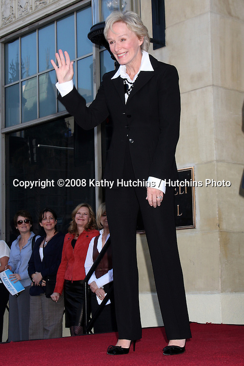 Glenn Close  at the Hollywood Walk of Fame Star Ceremony for Glenn Close in Los Angeles, CA on .January 12, 2009.©2008 Kathy Hutchins / Hutchins Photo..                .