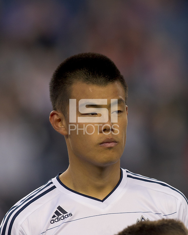 Vancouver Whitecaps FC forward Long Tan (23). In a Major League Soccer (MLS) match, the New England Revolution defeated the Vancouver Whitecaps FC, 1-0, at Gillette Stadium on May14, 2011.