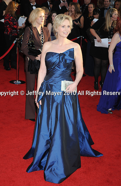 LOS ANGELES, CA. - January 23: Jane Lynch arrives at the 16th Annual Screen Actors Guild Awards held at The Shrine Auditorium on January 23, 2010 in Los Angeles, California.