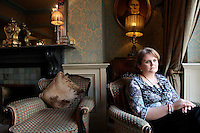 NO REPRO FEE. 7/10/2010. ALZHEIMER SOCIETY PRE-BUDGET SUBMISSION.  Pictured in Buswells Hotel, Dublin is carer Bernadette Brady from Rathfarnum whose 87 year old mother Mary has Alzheimers took to the gates of the Dail during the launch of the charity's Pre-Budget Submission to call on the Government to help  the tens of thousands of people living with dementia in Ireland and their carers. The Alzheimer Society of Ireland has warned the Government that further funding cuts to its services in the coming Budget will see some of the 44,000 people living with dementia and their 50,000 carers left without even basic support though community services. The charity made its call at the launch of its Pre-Budget Submission 2011 as it revealed that many carers are now at crisis point as figures show waiting lists for dementia services have shot up by 33% in the last year.  Picture James Horan/Collins Photos