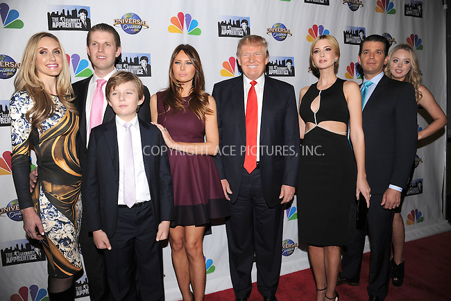 WWW.ACEPIXS.COM<br /> February 16, 2015 New York City<br /> <br /> Lara Yunaska, Eric Trump, Barron Trump, Melania Trump, Donald Trump, Ivanka Trump, Donald Trump Jr,Tiffany Trump arriving to the Celebrity Apprentice Finale viewing party and post show red carpet on February 16, 2015 in New York City.<br /> <br /> Please byline: Kristin Callahan/AcePictures<br /> <br /> ACEPIXS.COM<br /> <br /> Tel: (646) 769 0430<br /> e-mail: info@acepixs.com<br /> web: http://www.acepixs.com