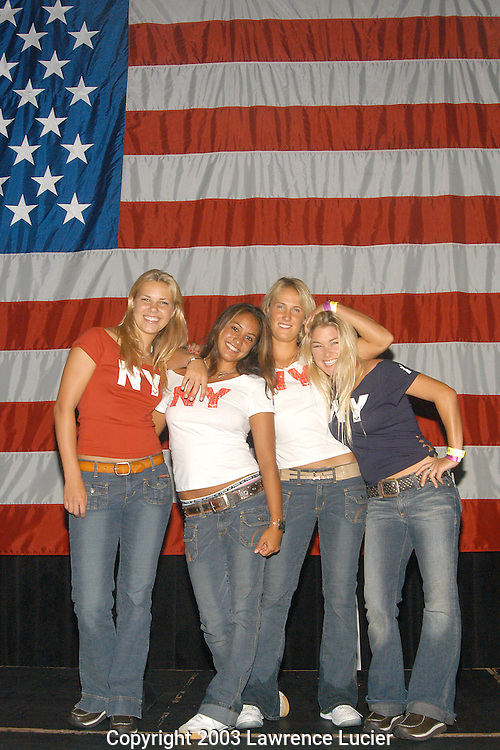 Castmembers from the MTV series Surf Girls - Jenna Grosshans, Kula Barbieto, Danielle Beck, and Mary Osbourne.
