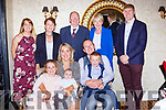 Little Rian Jack Nicholson celebrated his christening with his parents Arlene and Roderick, bis sister Aoibhinn big brother Odhran and back row l-r: Mags Evans, Mary Nicholson, Bob and Marie Keohane, and Paul Finn  in the Victoria House Hotel on Saturday