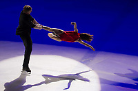 Elena Jovanovich and Nodar Maisuradze perform during the Kings on Ice skating show in Budapest, Hungary on April 29, 2018. ATTILA VOLGYI