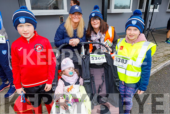 At the Charlie Kerins 10k in Kerins O'Rahilly's on Sunday morning<br /> L to r: Melissa Ryan Nix, Ryan Fix, Chloe Griffin, Bernie and Kelly Hayes