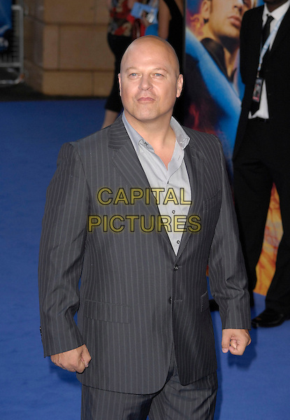 """MICHAEL CHIKLIS .Attending the UK Premiere of """"Fantastic Four: Rise Of The Silver Surfer"""" at Vue West End Cinema, London, England, June 12th 2007. .half length grey suit .CAP/CAN.©Can Nguyen/Capital Pictures"""