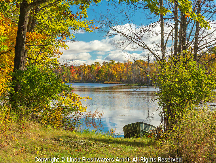 An autumn lake in northern Wisconsin.