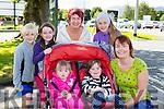 Ciara and Caoimhe O'Sullivan, back l-r; Aine O'Sullivan, fionn Evans, Mary and aoibhín Evans killarney at the Ronald McDonald walk for families in Killarney on Saturday