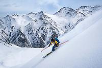 Skiing in the Aksuu Valley, Kyrgyzstan