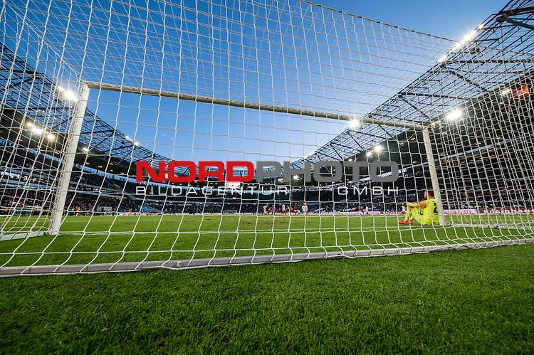 09.02.2019, HDI Arena, Hannover, GER, 1.FBL, Hannover 96 vs 1. FC Nuernberg<br /> <br /> DFL REGULATIONS PROHIBIT ANY USE OF PHOTOGRAPHS AS IMAGE SEQUENCES AND/OR QUASI-VIDEO.<br /> <br /> im Bild / picture shows<br /> Christian Mathenia (Nuernberg #26) sitzt nach Spielende und 2:0 Niederlage entt&auml;uscht und niedergeschlagen angelehnt am rechten Torpfosten, <br /> <br /> Foto &copy; nordphoto / Ewert