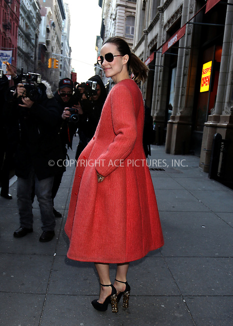 WWW.ACEPIXS.COM....February 14 2013, New York City....Actress Olivia Wilde leaves ABC Kitchen on February 14 2013 in New York City........By Line: Philip Vaughan/ACE Pictures....ACE Pictures, Inc...tel: 646 769 0430..Email: info@acepixs.com..www.acepixs.com