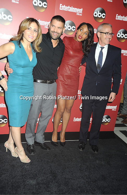 Melissa Mattiace, Giillermo Diaz,Kerry Washington and Jess Cagle at the Entertainment Weekly and ABC-TV Upfront Party at The General on May 14, 2013 in New York City.
