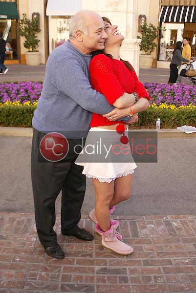 Burt Young and Vanessa Parise
