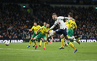 Tottenham Hotspur's Giovani Lo Celso with a shot towards goal<br /> <br /> Photographer Rob Newell/CameraSport<br /> <br /> The Emirates FA Cup Fifth Round - Tottenham Hotspur v Norwich City - Wednesday 4th March 2020 - Tottenham Hotspur Stadium - London<br />  <br /> World Copyright © 2020 CameraSport. All rights reserved. 43 Linden Ave. Countesthorpe. Leicester. England. LE8 5PG - Tel: +44 (0) 116 277 4147 - admin@camerasport.com - www.camerasport.com