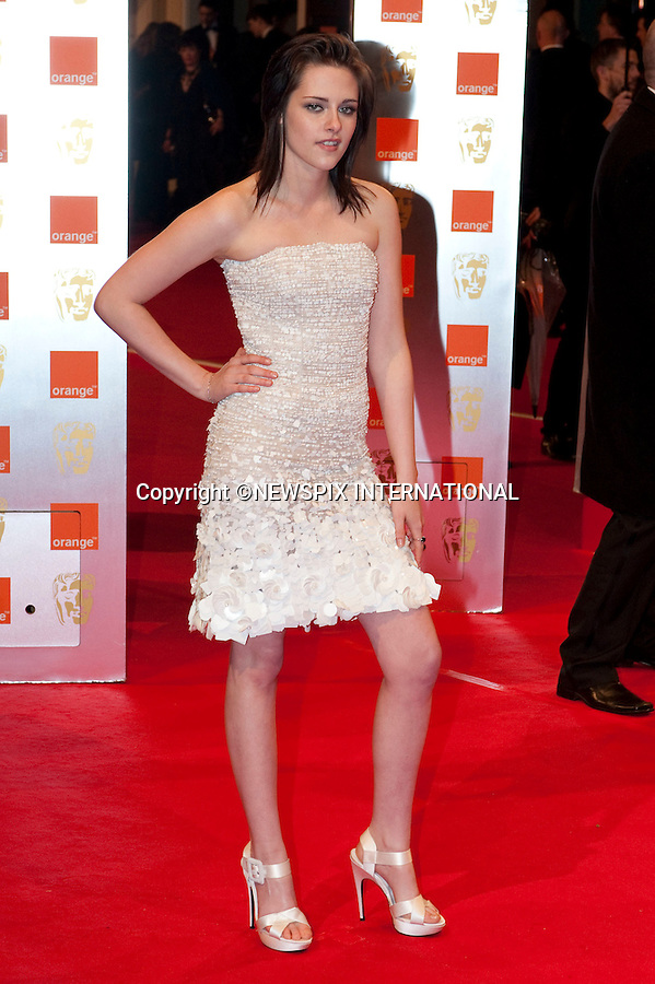 """Kristen Stewart.at the Annual British Academy Film Awards, Royal Opera House, London_21st February, 2010..Mandatory Photo Credit: ©Dias/NEWSPIX INTERNATIONAL..**ALL FEES PAYABLE TO: """"NEWSPIX INTERNATIONAL""""**..PHOTO CREDIT MANDATORY!!: NEWSPIX INTERNATIONAL(Failure to credit will incur a surcharge of 100% of reproduction fees)..IMMEDIATE CONFIRMATION OF USAGE REQUIRED:.Newspix International, 31 Chinnery Hill, Bishop's Stortford, ENGLAND CM23 3PS.Tel:+441279 324672  ; Fax: +441279656877.Mobile:  0777568 1153.e-mail: info@newspixinternational.co.uk"""