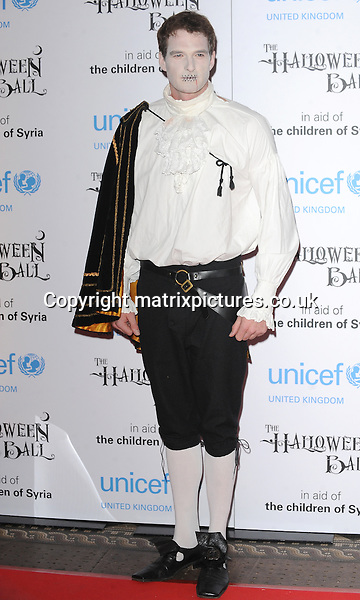 NON EXCLUSIVE PICTURE: PAUL TREADWAY / MATRIXPICTURES.CO.UK<br /> PLEASE CREDIT ALL USES<br /> <br /> WORLD RIGHTS<br /> <br /> English television presenter Dan Snow attending the UNICEF Halloween Ball at London's One Mayfair.<br /> <br /> OCTOBER 31st 2013<br /> <br /> REF: PTY 137081