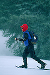 Woman snowshoeing at Clair Tappaan (Sierra Club facility)