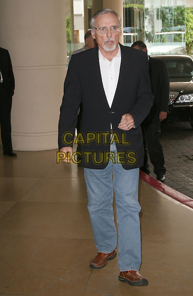 DENNIS HOPPER.Summer 2008 TCA Session held at the Beverly Hilton Hotel, Beverly Hills, California, USA, .11 July 2008. .full length beard moustache suit white shirt black jacket jeans brown shoes.CAP/ADM/FS.©Faye Sadou/Admedia/Capital Pictures